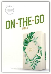 CSB On-the-Go Bible--soft leather-look, white floral textured