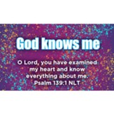 God Knows Me Scripture Cards, Pack of 25
