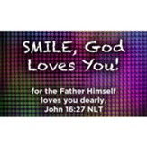 Smile, God Loves You Scripture Cards, Pack of 25