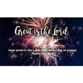 Great is the Lord Scripture Cards, Pack of 25