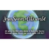 Jesus Savior of the World Scripture Cards, Pack of 25