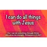 I Can Do All Things With Jesus Scripture Cards, Pack of 25
