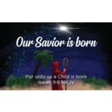 Christmas Scripture Cards, Our Savior is Born, Isaiah 9:6, Pack of 25