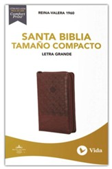 RVR 1960 Santa Biblia, Letra Grande, Tamaño Compacto, Café con Índice y Cierre (Compact Holy Bible, Large Print, LeatherSoft Brown with Zipper & Indexed)