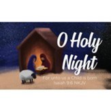 Christmas Scripture Cards, O Holy Night, Isaiah 9:6, Pack of 25