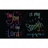 Children and Youth Scripture Cards, The Joy of the Lord is my Strength, Nehemiah 8:10 Pack of 25