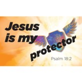 Children and Youth Scripture Cards, Jesus is my Protector, Psalm 18:2, Pack of 25