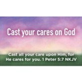 Children and Youth Scripture Cards, Cast Your Cares on God, 1 Peter 5:7 Pack of 25