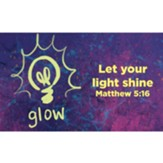 Children and Youth Scripture Cards, Glow, Matthew 5:16 Pack of 25