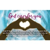 Children and Youth Scripture Cards, God Cares for You, Matthew 6:30, Pack of 25