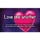 Children and Youth Scripture Cards, Love One Another, John 13:34, Pack of 25