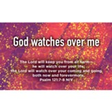 Children and Youth Scripture Cards, God Watches Over Me, Psalm 121:7-8 Pack of 25