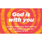 Children and Youth Scripture Cards, God is With You, Joshua 1:9, Pack of 25