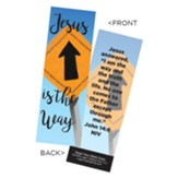 Jesus is the Way Bookmarks, Pack of 25