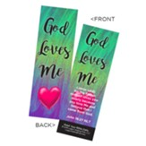 God Loves Me Bookmarks, Pack of 25