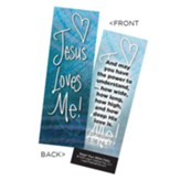 Jesus Loves Me Bookmarks, Pack of 25