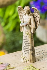 Angel with Bird Garden Statue