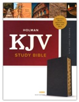 KJV Study Bible, Full-Color--premium leather, black (indexed)