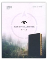 CSB Men of Character Bible--soft leather-look, black (indexed)