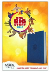 CSB One Big Story Bible--soft leather-look, blue