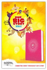 CSB One Big Story Bible--soft leather-look, pink