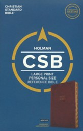 CSB Large-Print Personal-Size  Reference Bible--soft leather-look, burgundy (indexed)