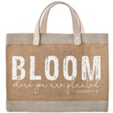 Bloom Where You're Planted Farmer's Market Mini Tote Bag