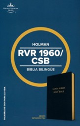 RVR 1960/CSB Biblia bilingüe, negro imitación piel  (CSB/RVR 1960 Bilingual Bible, Black Imitation Leather)