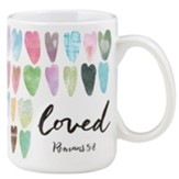 Loved, Romans 5:8, Mug
