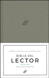Biblia del Lector NVI, Tela Enc. Dura, Olivo  (NVI Reader's Bible, Olive Cloth Over Board)