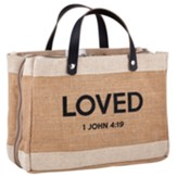 Loved, John 4:19, Farmer's Market Tote Style Bible Cover