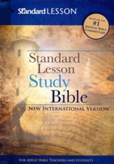 NIV Standard Lesson Study Bible, DuoTone - Imperfectly Imprinted Bibles
