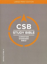 CSB Study Bible, Large Print  Edition, Hardcover - Slightly Imperfect