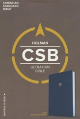 CSB Ultrathin Bible, Navy Cloth Over Board