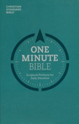 CSB One Minute Bible: Scripture  Portions for Daily Devotion