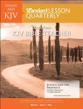 Standard Lesson Quarterly: KJV Large Print Bible Teacher, Spring 2020