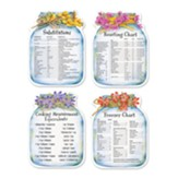 Die Cut Mason Jar Magnets with Equivalents, Set of 4