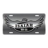 Eagle, Isaiah 40:31, License Plate