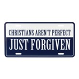 Christians Aren't Perfect Just Forgiven License Plate