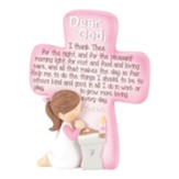 Lord Teach Us to Pray, Girl, Tabletop Cross