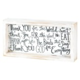 Thank You For the Food Tabletop Plaque