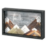 Faith Moves Mountains Tabletop Plaque