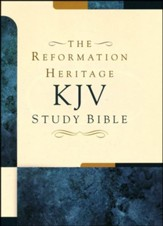 KJV Reformation Heritage Study Bible, Soft Imitation Leather, Charcoal - Slightly Imperfect