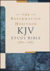 KJV Reformation Heritage Study Bible, Premium Edge-Lined Goatskin, Black - Slightly Imperfect
