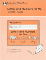 Letters and Numbers for Me Teacher's Guide, Grade K (2018  Edition)