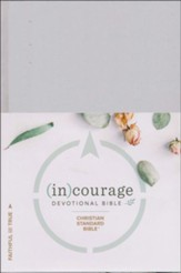 CSB (in)courage Devotional Bible,  hardcover - Slightly Imperfect
