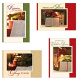 Bible And Poinsettia Christmas Cards, Box of 12