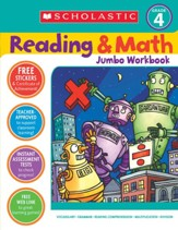 Reading & Math Jumbo Workbook: Grade 4