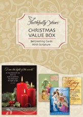Value Box, Christmas Cards, Box of 24
