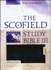 The Scofield Study Bible III, KJV, Black Duradera (Imitation Leather) with Zipper
